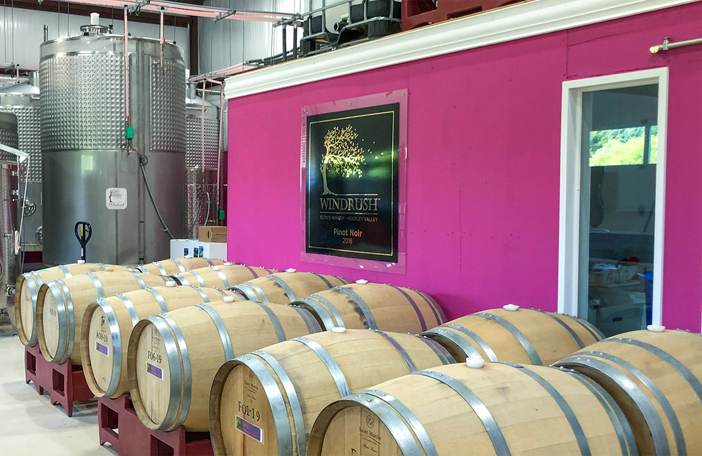 Interior of Windrush Estate Winery