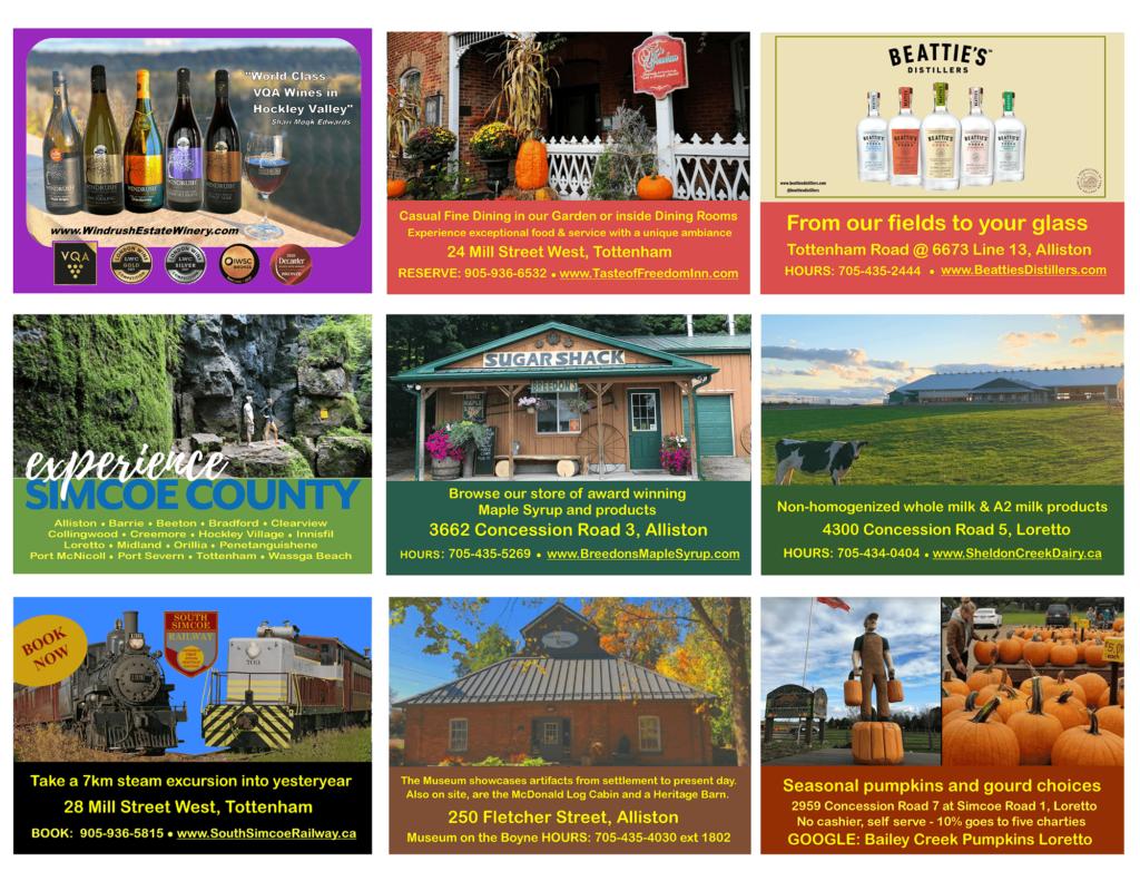 Simcoe County Tour Features